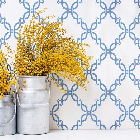 Our beautiful Erica Trellis wall stencil design is a sophisticated ...
