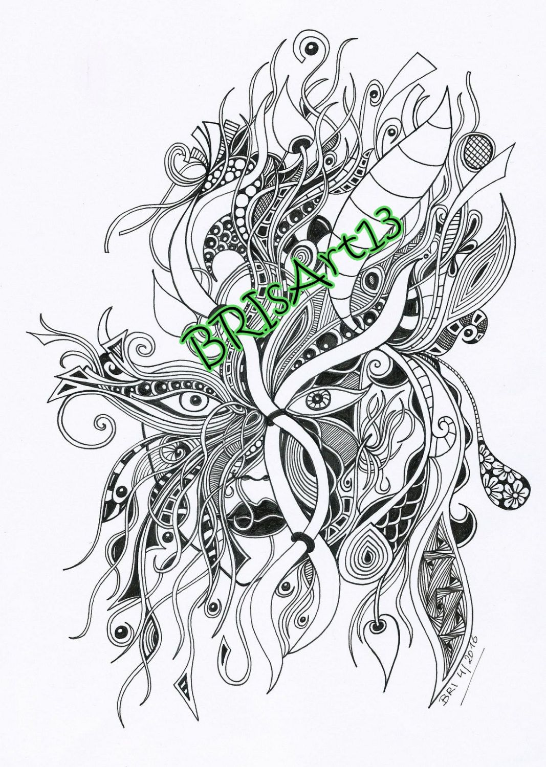 Adultcoloring Downloads - DOODLES-ZIA made by BRI, Zentangles ...