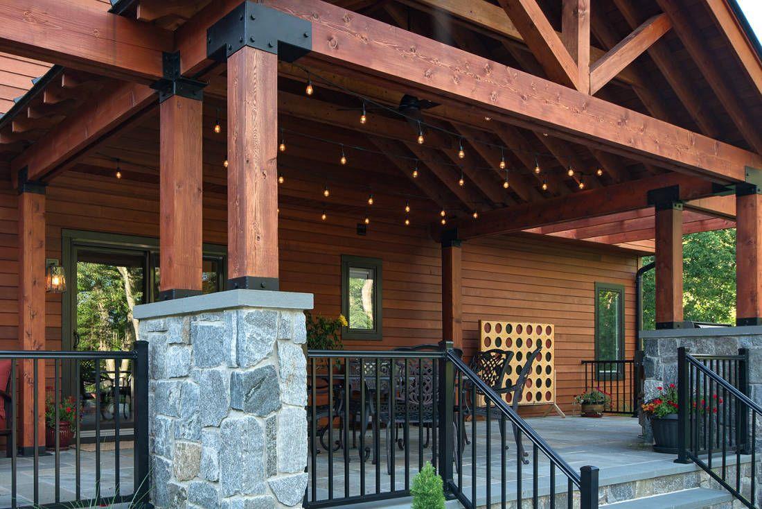 Our Customer Accented His Clear Cedar Shiplap Nickel Gap Siding With Wrc 1x12 2x4 2x8 2x10 3x8 3x12 6x6 8x8 Cedar Lum Pergola Pergola Patio Cedar Lumber