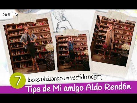 7 look utilizando un vestido negro, Tips de Mi amigo Aldo Rendón - YouTube