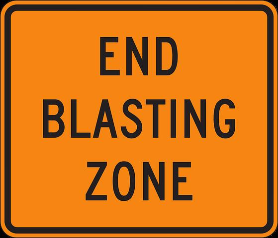 Free Image On Pixabay End Blasting Zone Sign Signage Signs Signage Signs Signage
