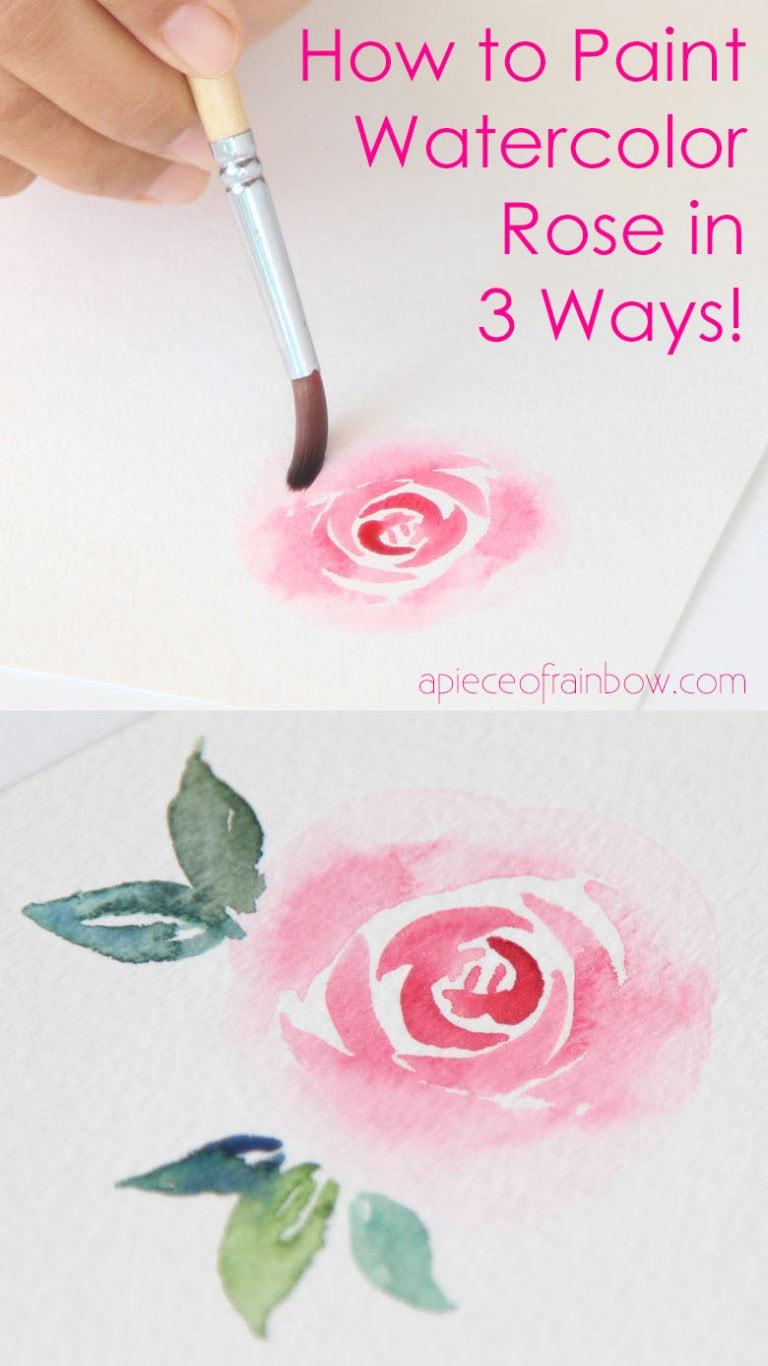 Easy Watercolor Rose Painting: 3 Video Tutorials!