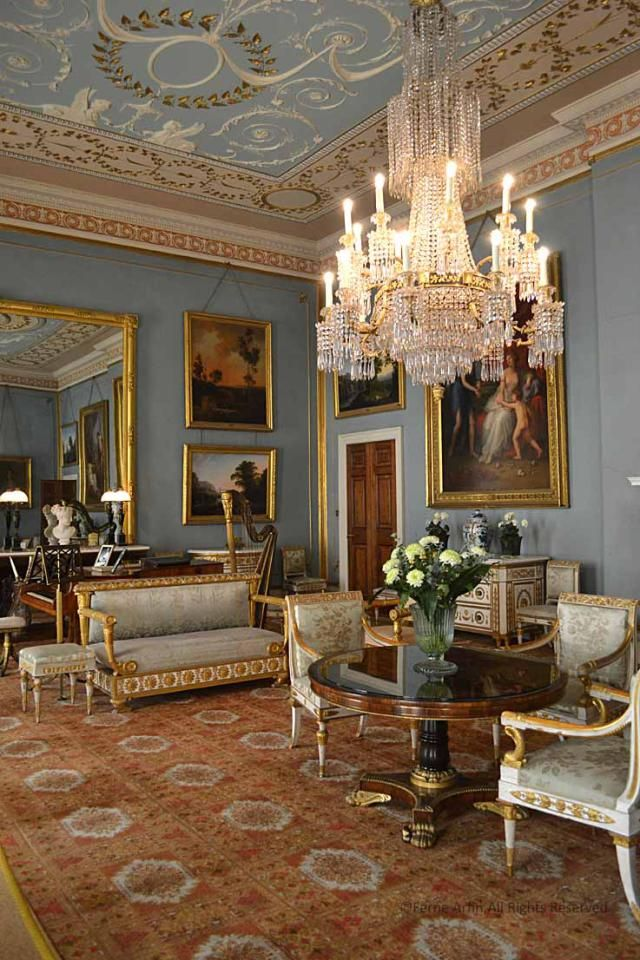 The Elegant And Classical Georgian Drawing Room At Attingham Is Furnished With 18th Century Italian Furniture Some Of Which Belonged To Napoleons Sister