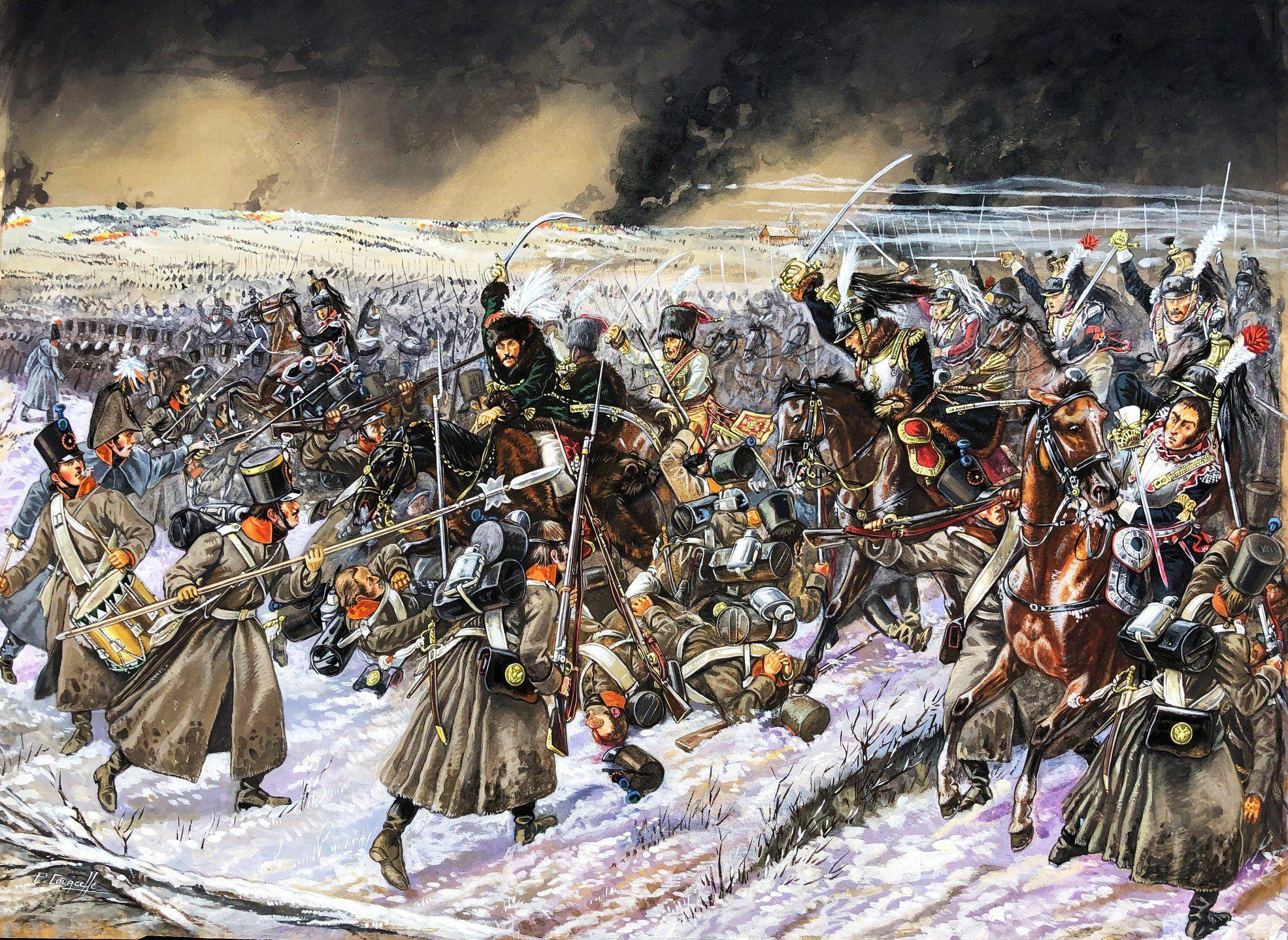 Murat Charge Avec La Cavalerie Francaise A Eylau Soit 12 000 Hommes L Une Des Plus Grandes Charges De Cavalerie De L Histo Histoire Empire Histoire De France