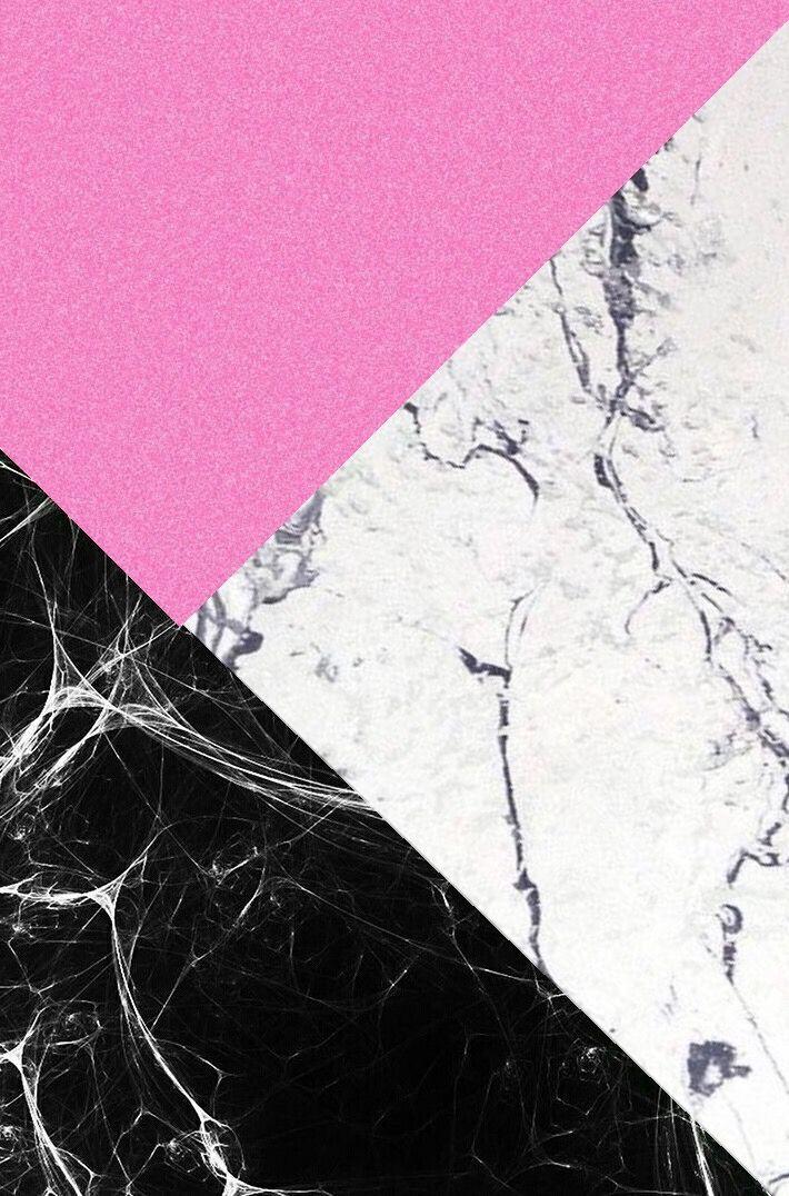 Pink Glitter White Black Marble Cute Wallpaper Backgrounds Aesthetic Wallpapers Wallpaper Backgrounds