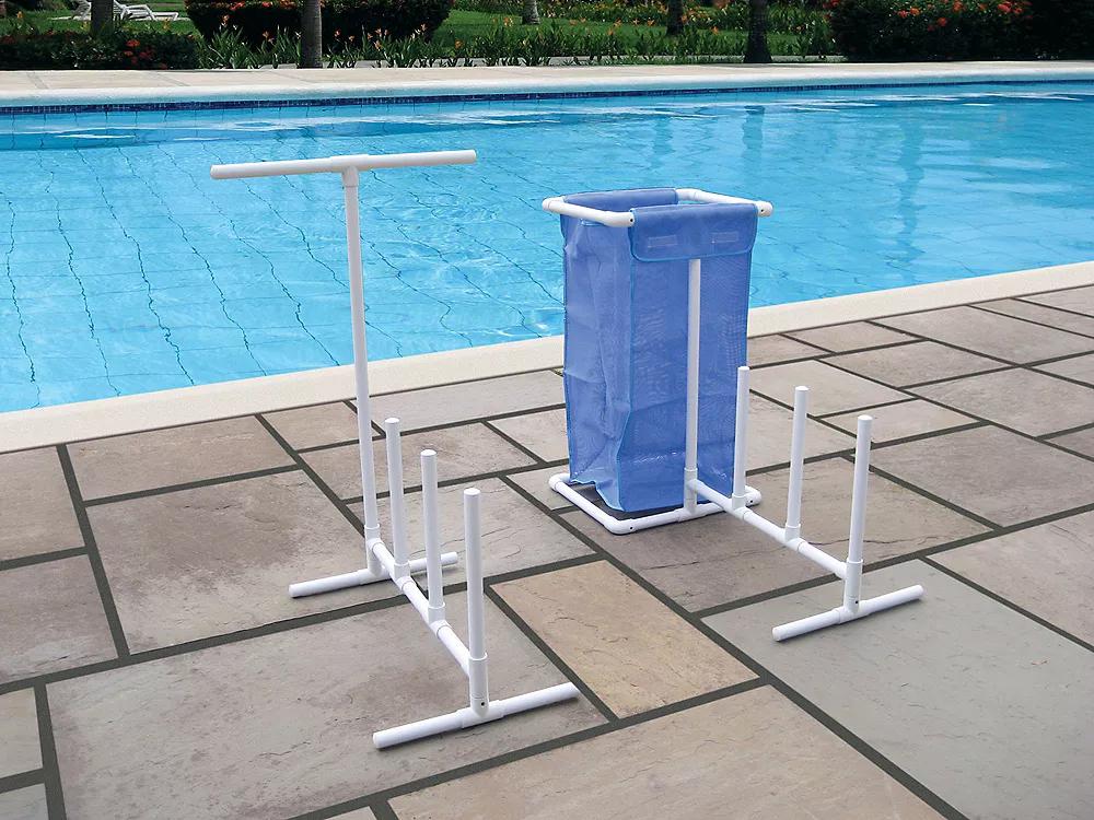 Pin By Lola Mento On Swimming Pool Swimming Pools Swimline Pool Toy Organization