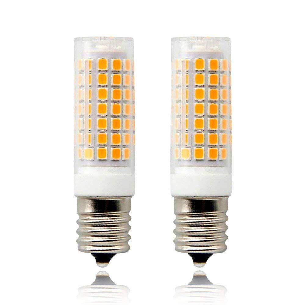 850lm jde11 120v 75w Halogen Bulbs Equivalent T3//T4 JDE11 Mini Candelabra LED Light Bulb 8W Warm White 3000K jd Mini can Bulb E11 Mini Candelabra Base Pack of 2 110V-130V Input