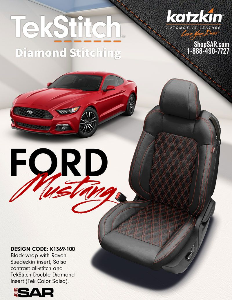 Tekstitch Katzkin For Ford Mustang Leather Seat Covers Mustang