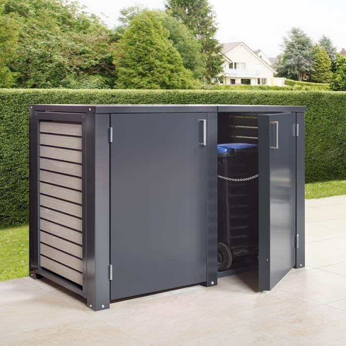 m lltonnenbox mit ungelochter t r haus in 2018 pinterest storage bins fence doors und. Black Bedroom Furniture Sets. Home Design Ideas