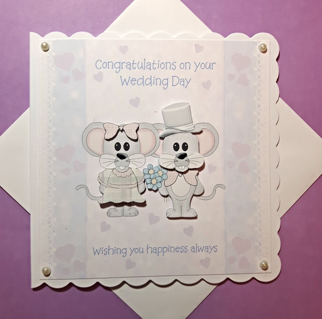 Wedding Mice Congratulations on your wedding day, Cards