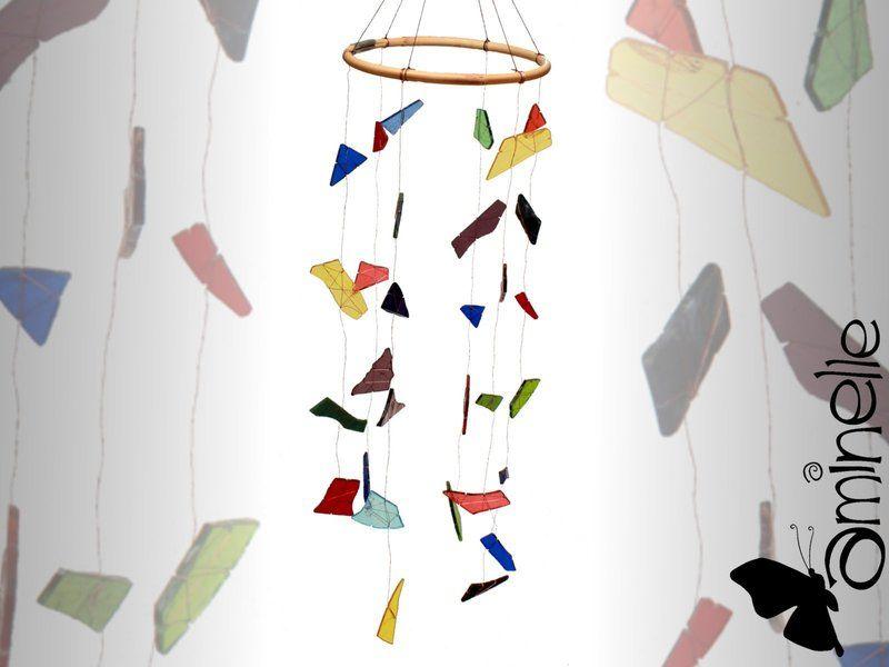 Deko-Objekte - Mobilee aus Glasscherben mit geschliffenen Kanten - ein Designerstück von aminelle bei DaWanda