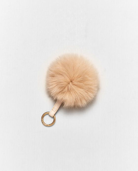 Image 2 of FAUX FUR POMPOM KEYRING from Zara Zara Women ccf15e9cf