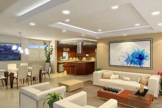 Sala, Comedor y Cocina en un Solo Ambiente. Para crear una magnifica ...