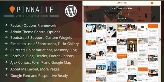 Pinnaite - Responsive Pinterest Clone WordPress Theme #themes ...