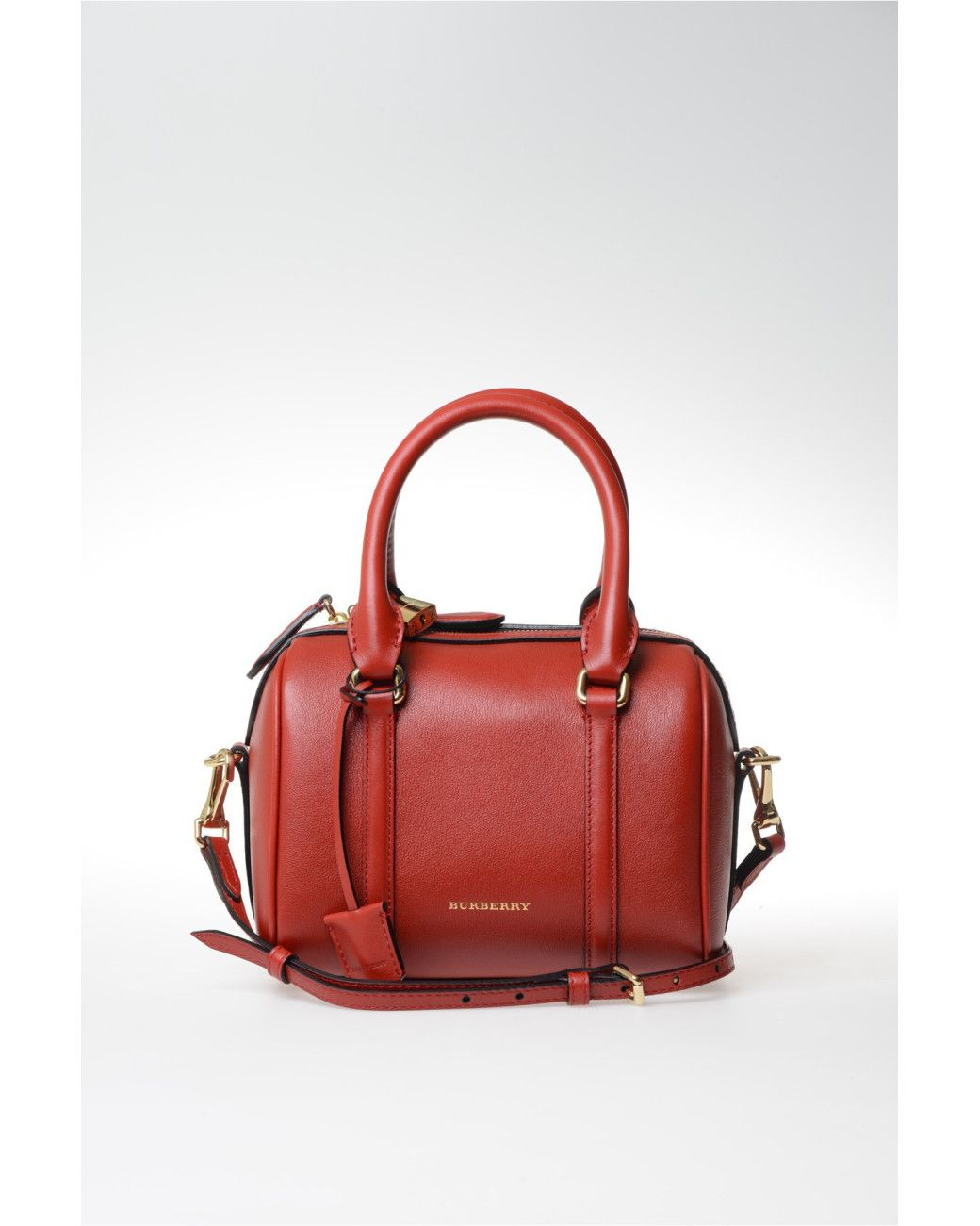 a404ff6de8 Burberry | Red Small Leather Boston Bag | Lyst | Womens Wallets in ...