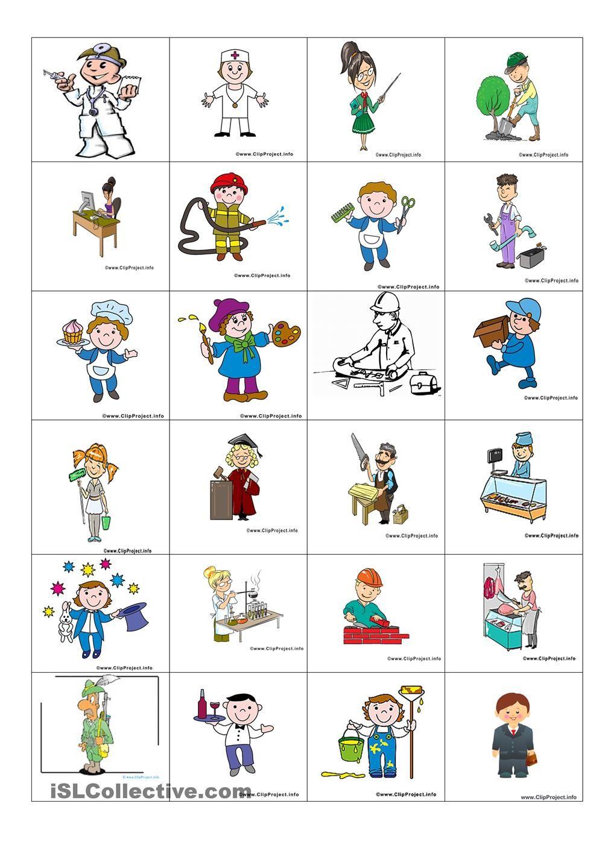 Arbeitsblätter Thema Berufe : Berufe  pinterest deutsches alphabet
