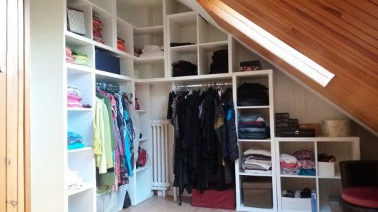 Kallax corner wardrobe for my bedroom from 4 ikea kallax 2x2 and 4 ikea kal - Dressing chambre ikea ...