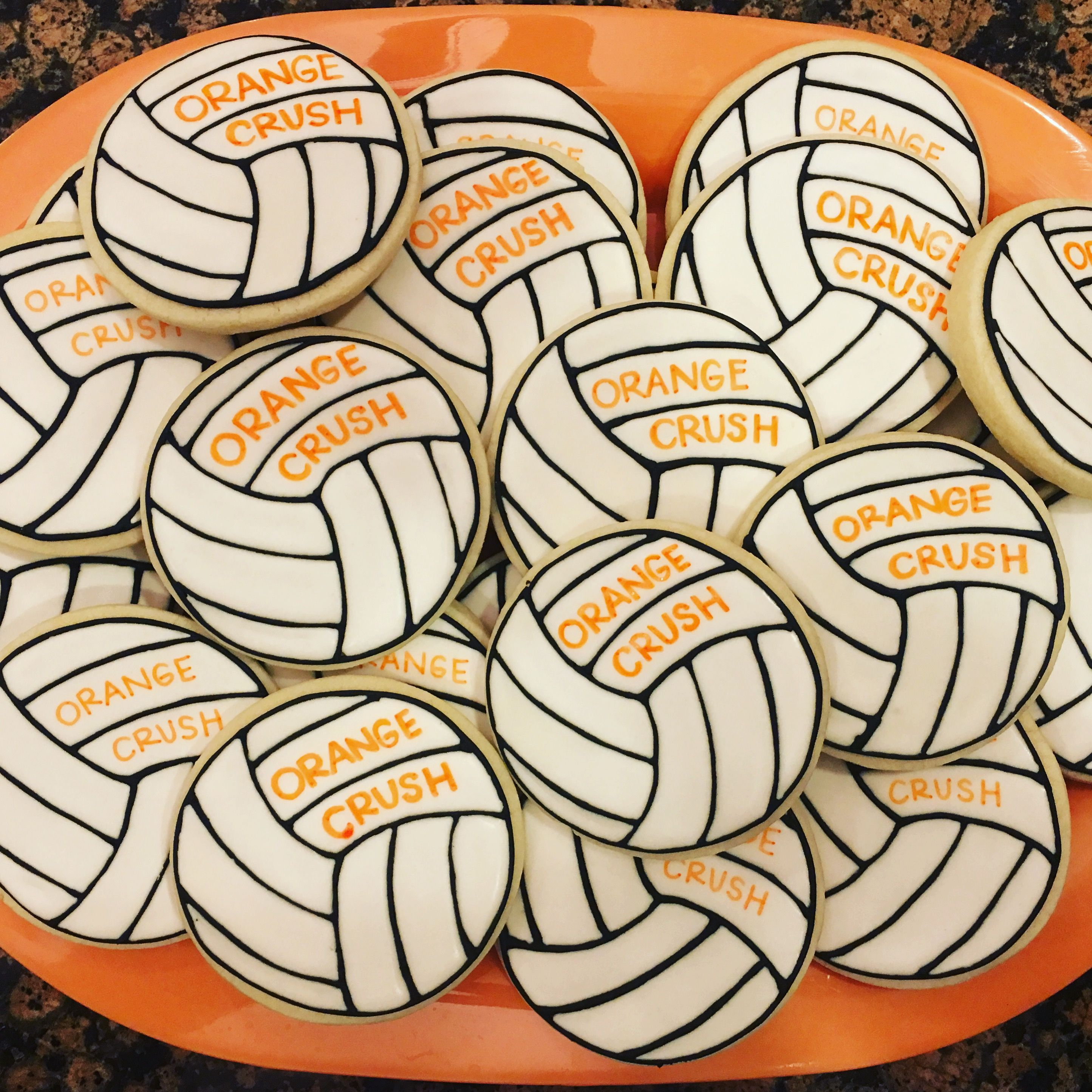 Volleyball Cookies Volleyball Cookies Sugar Cookies Decorated Sugar Cookies
