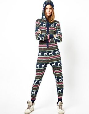 ASOS Knitted Christmas Fairisle Onesie honestly, this is amazing ...