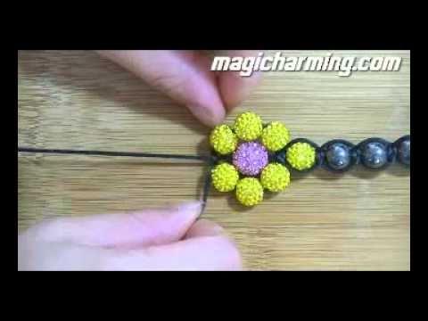 shambhala bracelet tutorial youtube. Black Bedroom Furniture Sets. Home Design Ideas