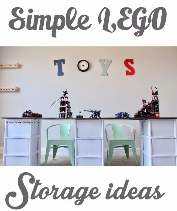 32 Space Saving Storage Ideas That Ll Keep Your Home Organized Room Storage Diy Diy Storage Table Lego Table With Storage