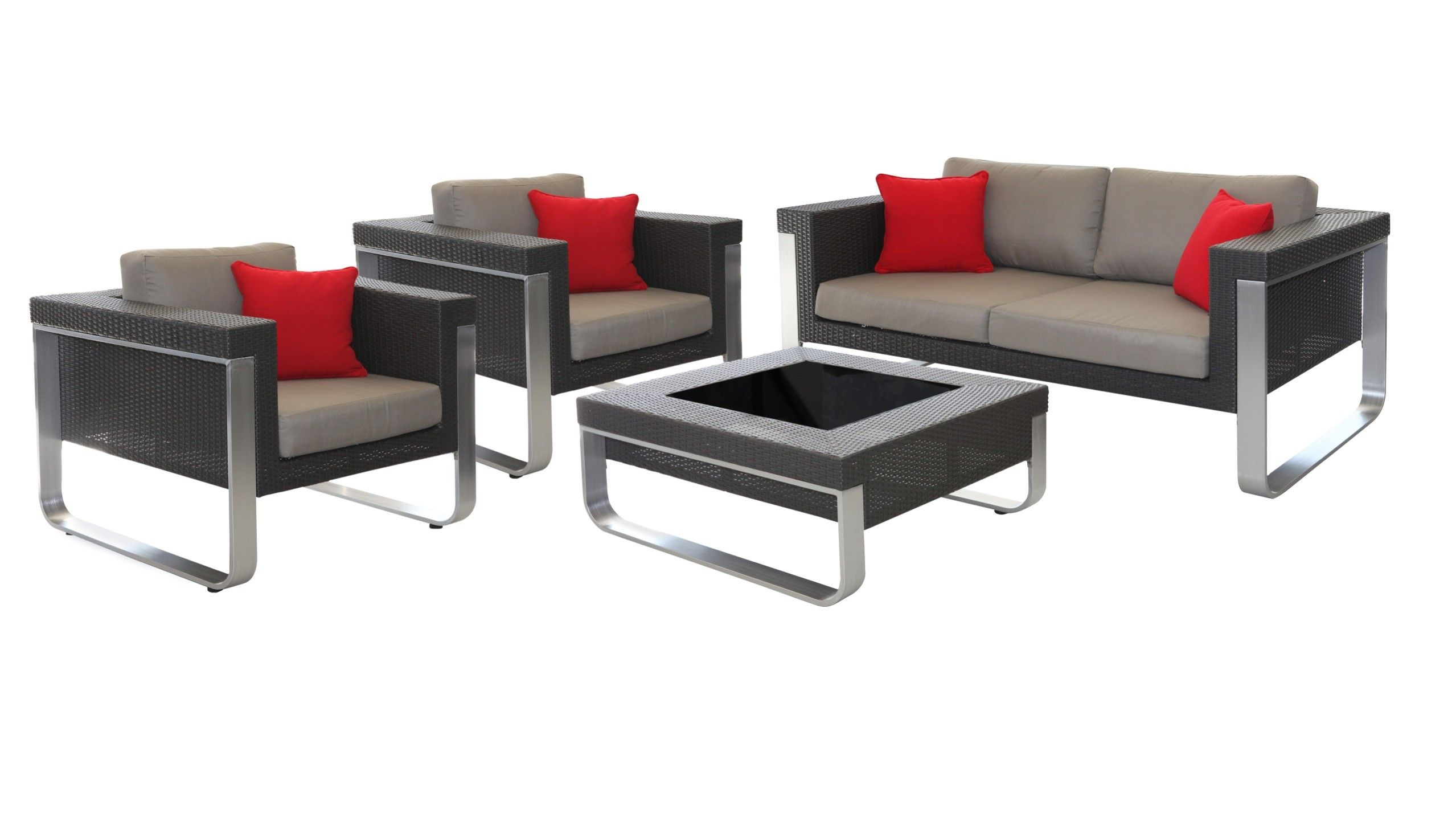 Roma  Outdoor Wicker Set 3+1+1 Seater + Tables | Outdoor Sofa | Pinterest |  Timber Flooring, Outdoor Sofa And Outdoor Lounge