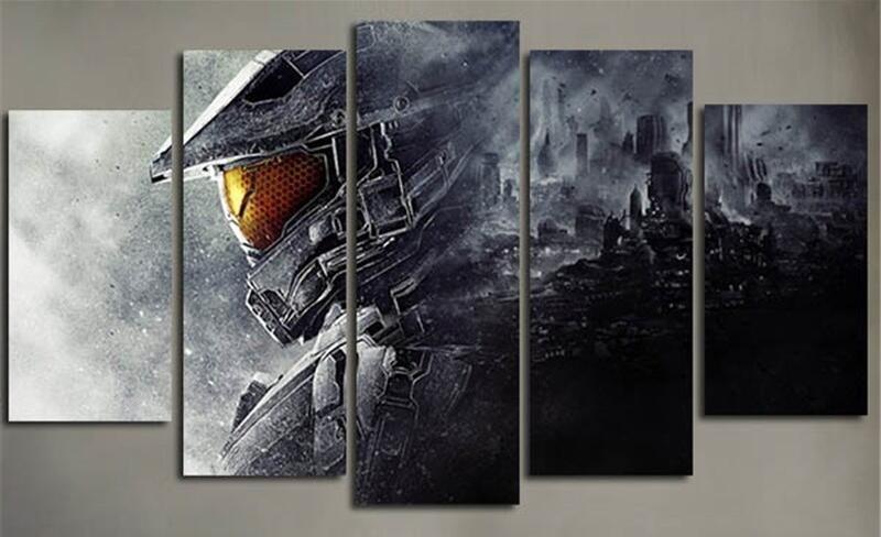 Halo 5 Guardians Gaming Canvas Wall Art Gaming Wall Art Video Game Wall Art Canvas Wall Art