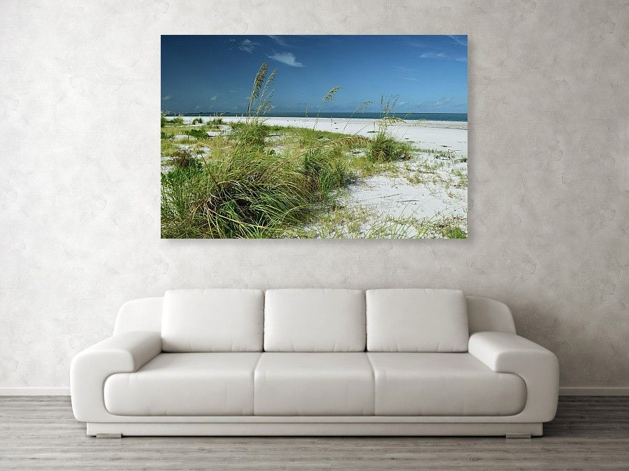 Beach House Decor Of Florida Beach And Grass Landscape