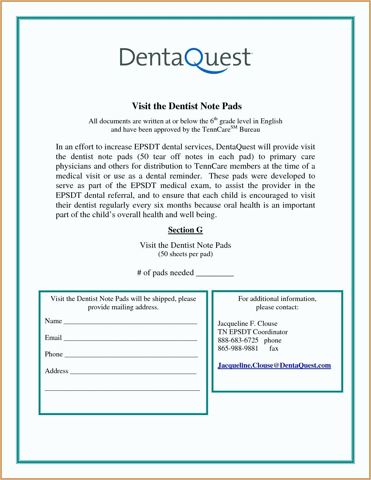Dental Excuse Letter for Work Elegant 7 Dental Note