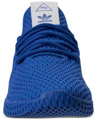 87b7ca06a24b9 adidas Originals Big Boys  Pharrell Williams Tennis Hu Casual Sneakers from Finish  Line - Blue 6.5