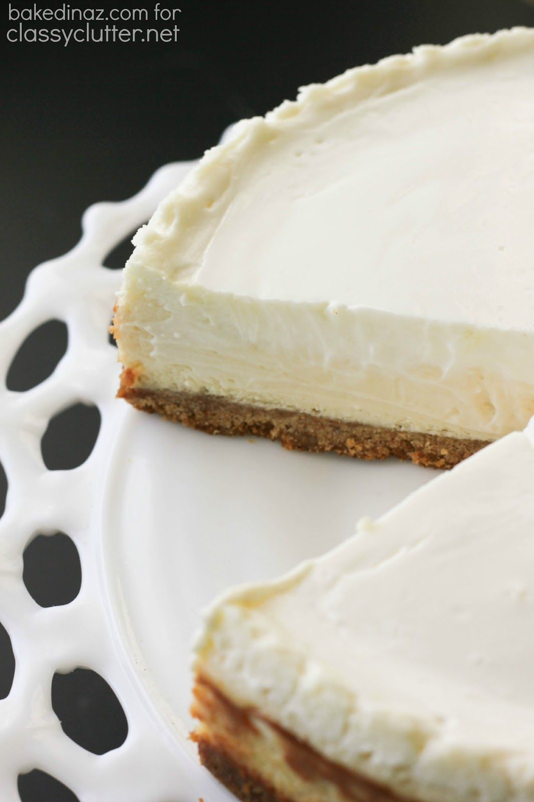 Classic Cheesecake With Sour Cream Topping Classy Clutter Sour Cream Cheesecake Original Cheesecake Recipe Sour Cream Recipes