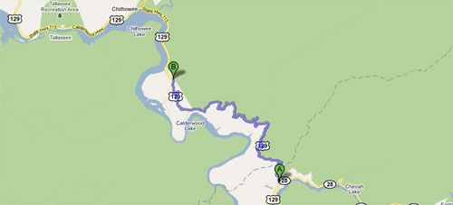 Tail Of The Dragon US Rt Deals Gap To Chilhowee Lake - Us 129 map
