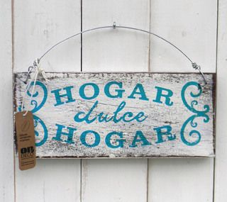 Letreros Vintage Hogar Dulce Hogar Turquesa Letreros Vintage