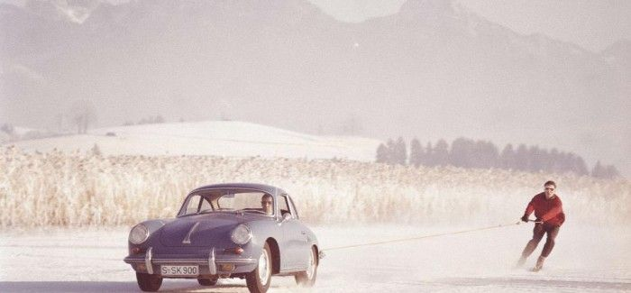 There's no bad weather for Porsche sports...