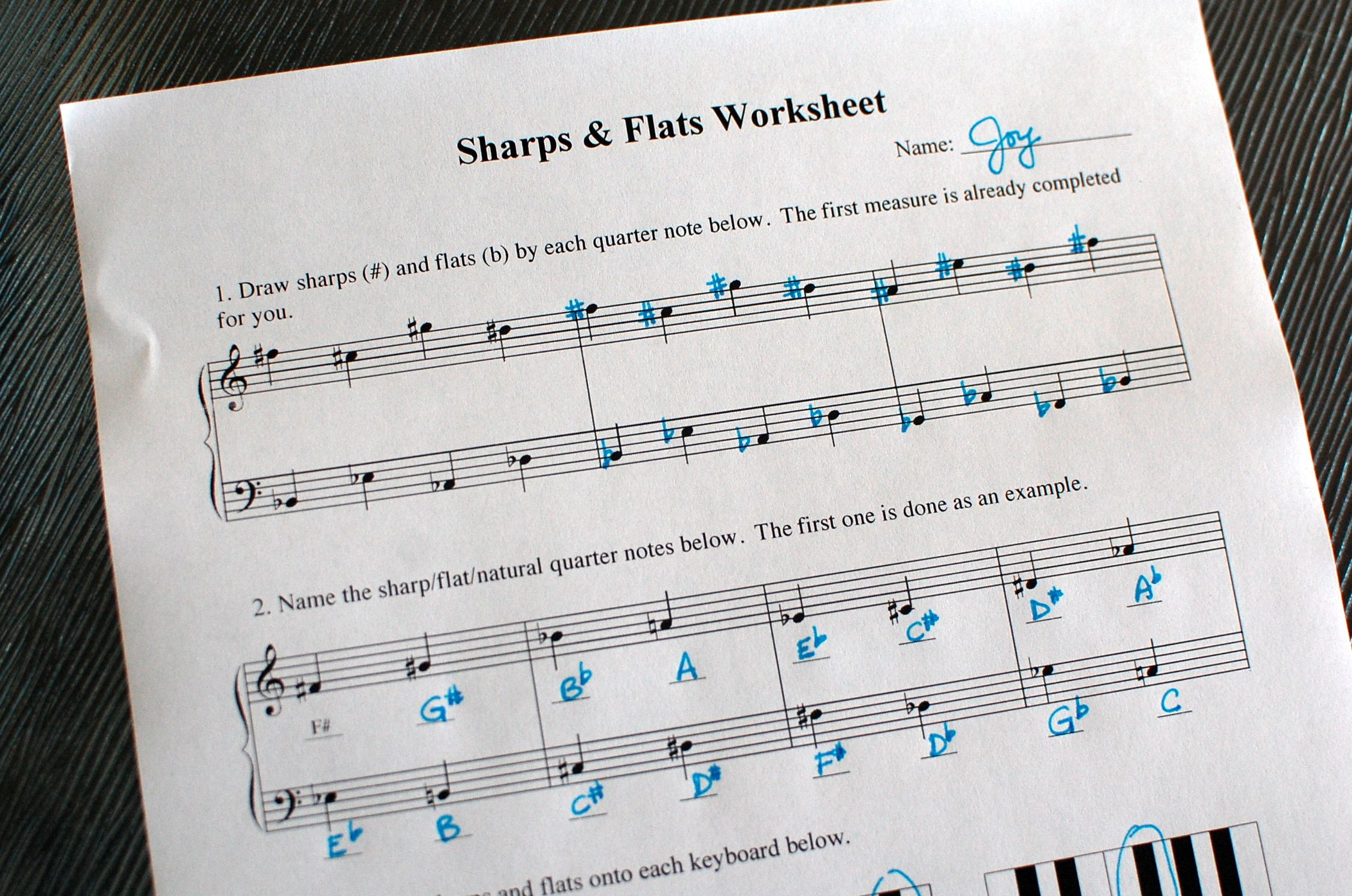 Sharps And Flats Worksheet Scroll Down