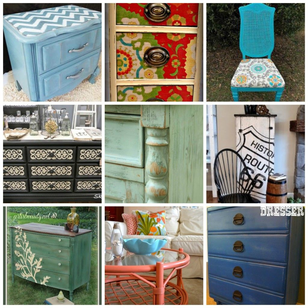 Funky painted furniture ideas - Funky Painted Desks Style Nightstand From Painted Furniture Ideas Decoupage Fabric Desk