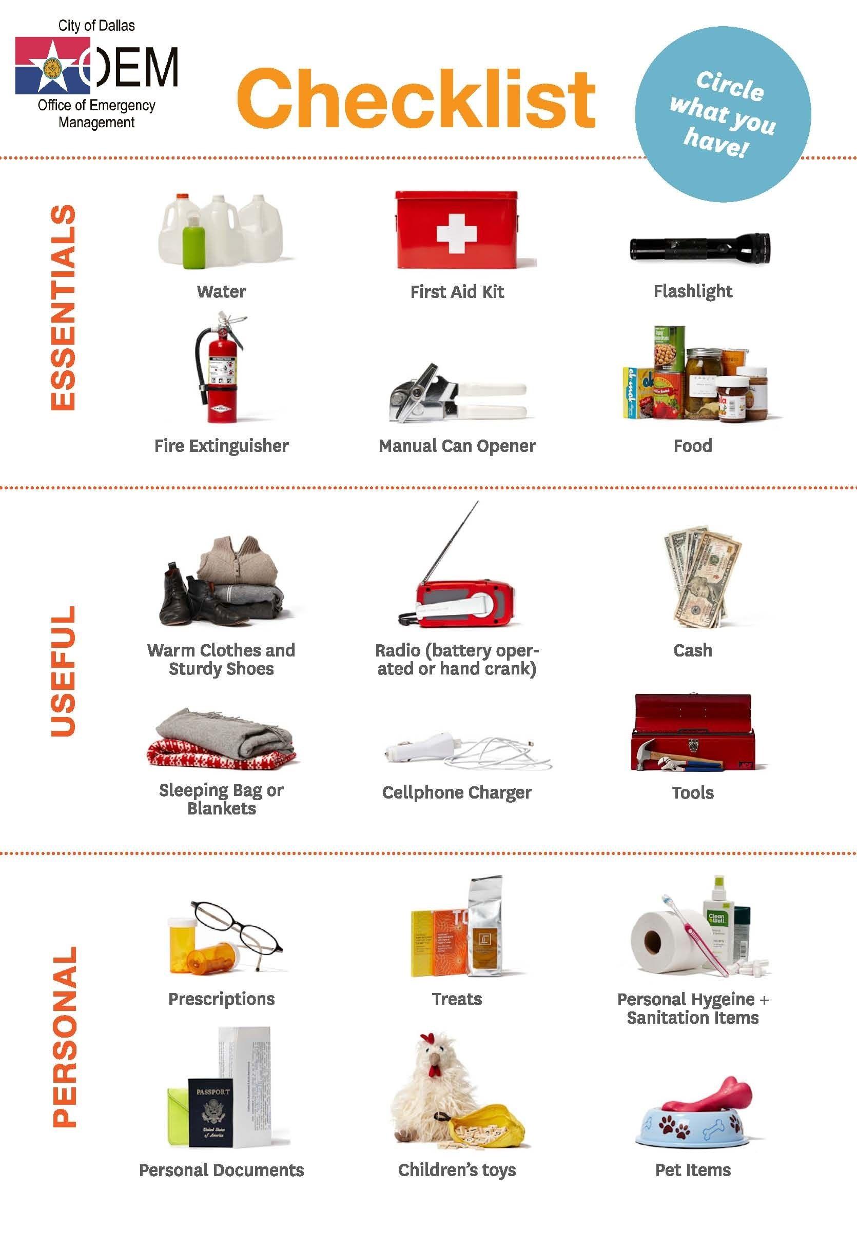 Related image Emergency preparedness checklist
