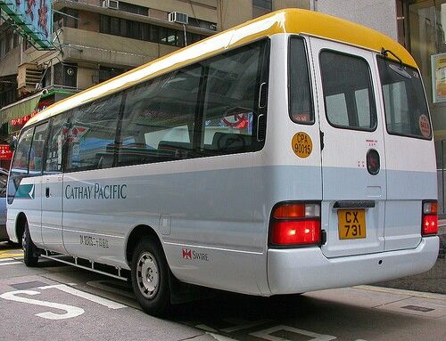 Cathay Pacific bus