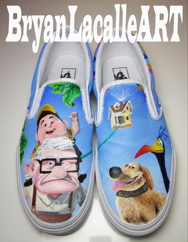 90d5d03706 Custom Vans Disney UP by BryanLacalleART on Etsy