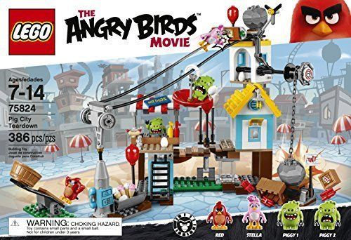 LEGO Angry Birds 75824 Pig City Teardown minifigures complete age 7-14 new #LEGO