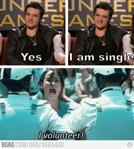 Yep, it's another The Hunger Games joke..