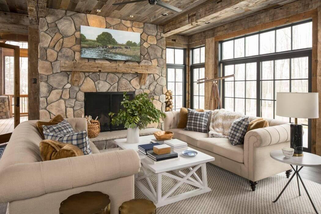 Woodland Shores Residence By Martha O Hara Interiors Rustic Lake