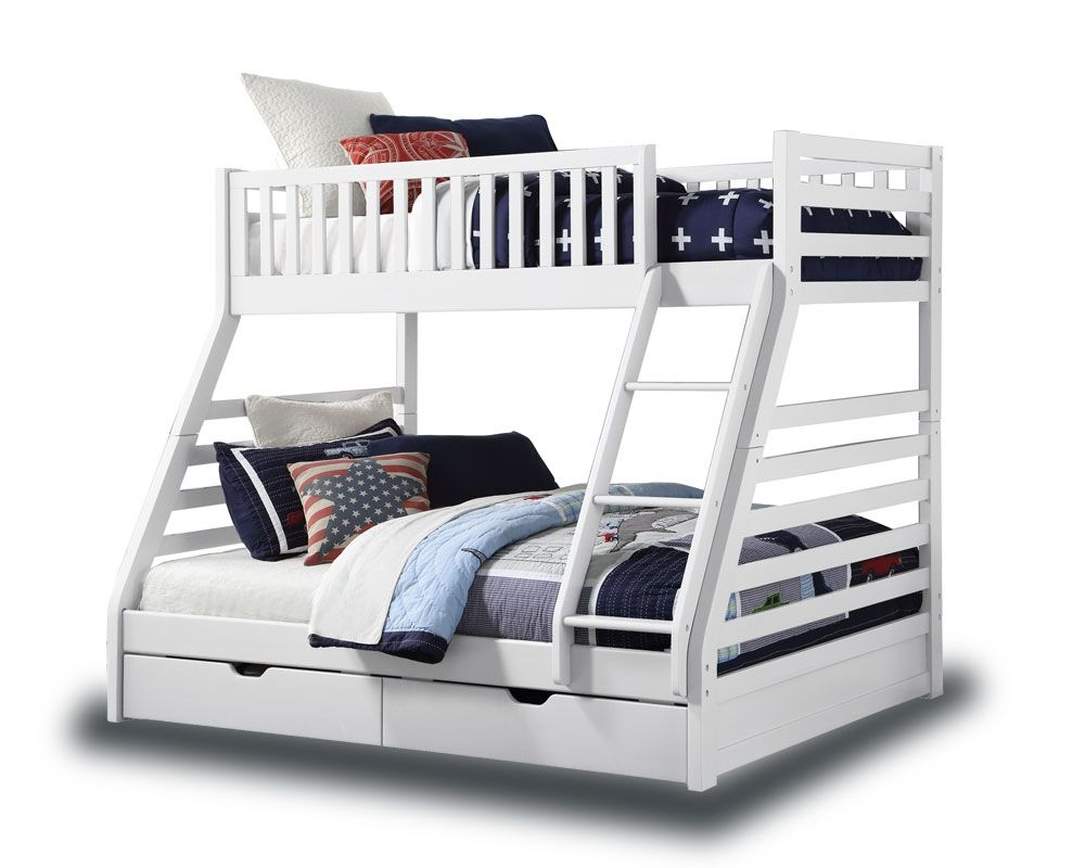 Best Station White Triple Bunk Bed With Drawers In 2020 White 640 x 480