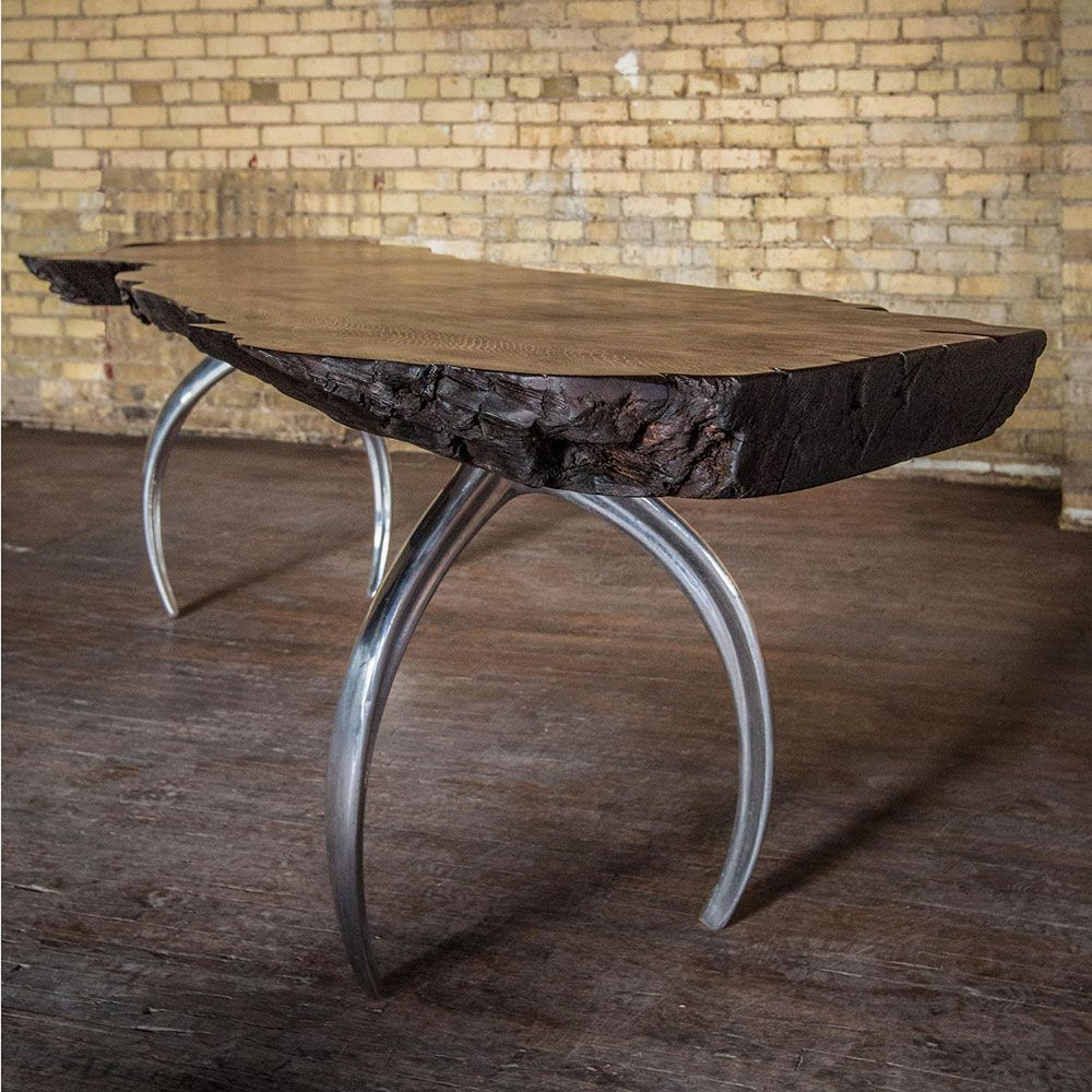 Mirror Finish Polished Aluminum Cast Table Legs Paired With A Wood Dining  Table Top. | House | Pinterest | Woods, Metal Furniture And Showroom