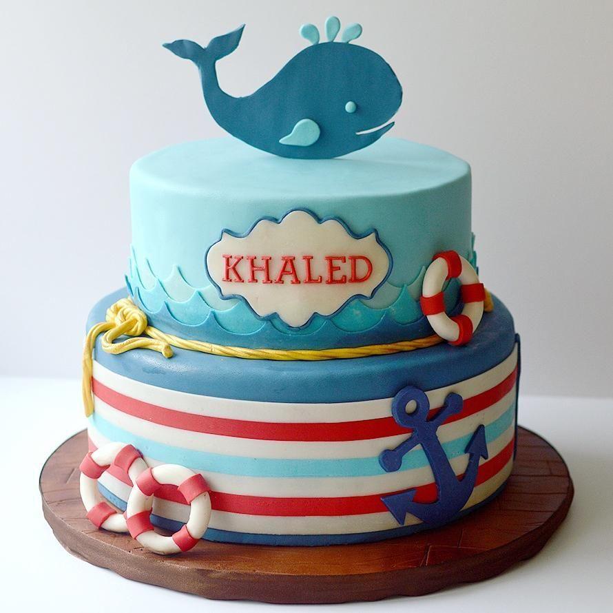Happy birthday Khaled nauticalstyle nautical birthdaycake