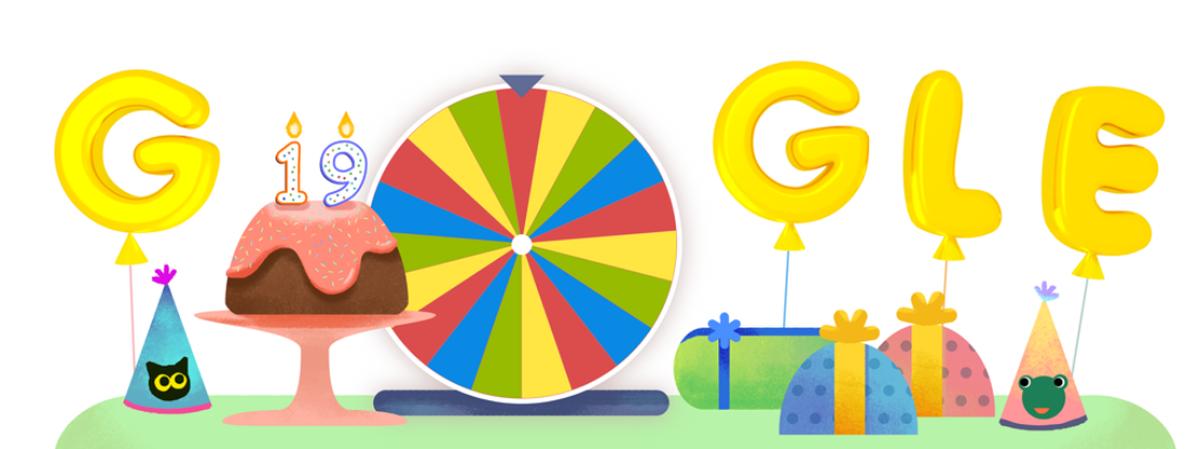 Roda de surpresas celebra aniversário do Google Google