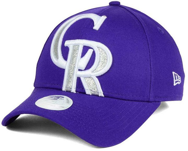 New Era Women s Colorado Rockies Glitter Glam 9FORTY Strapback Cap ... 3704504caf0e