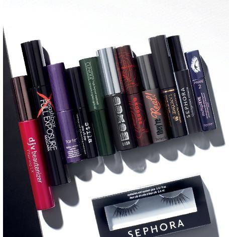 3d4c28ba14c 10 mascaras, primer, and false lashes―all in one set. #Sephora Favorites  Lash Stash. #Mascara #Gifts