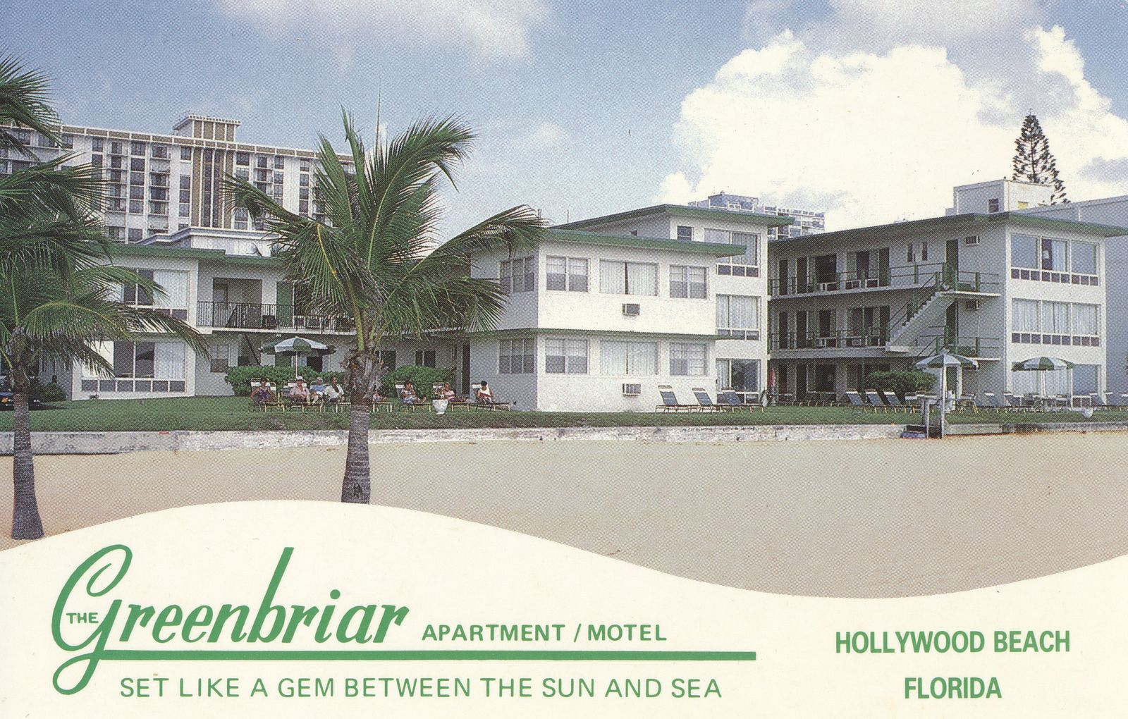 The Greenbriar Apartments Motel Hollywood Beach Florida Hollywood Beach Hollywood Florida Florida Hotels