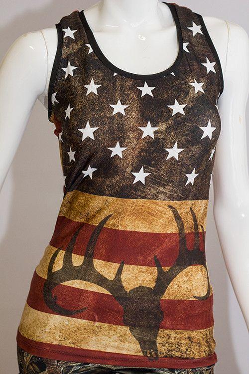 USA Flag 'Murica / Buck Racerback | CamoGirl™